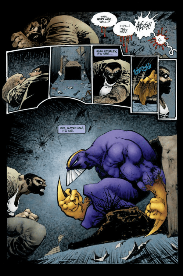 An example of The Maxx talking to himself