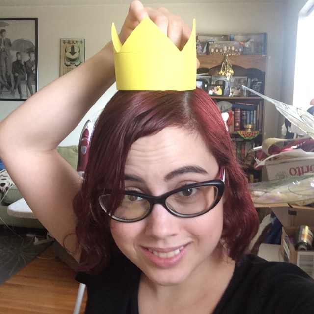 "I made this crown ½"" shorter than my original since it seemed a touch too tall for my head. I think this one suits me better!"