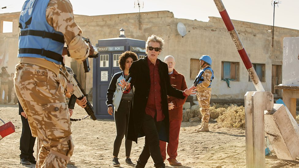 Capaldi does a great job of walking the line between taking seriously his duties as President of Earth while also projecting that he thinks the whole idea of the office is ridiculous.