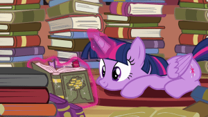 Twilight_Sparkle_reading_S4E09