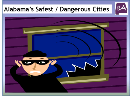 View The Alabama's Safest And Most Dangerous Cities Infographic