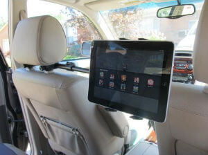 Premium Multi Passenger Universal Headrest Cradle Car Mount