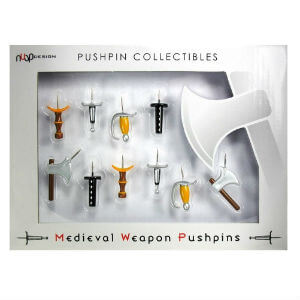 Medieval Weapon Push Pins