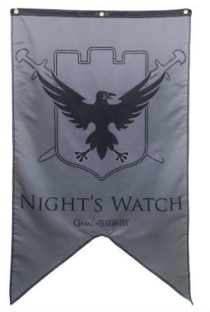 Night's Watch Banner Fabric Poster