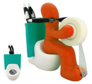RICSB The Butt Office Supply Station Desk Accessory Holder