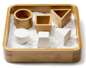 Sand Tray Set - Bamboo Executive Sandbox