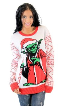 Star Wars Jedi Yoda Dressed As Santa Adult Off-White Ugly Christmas Sweater
