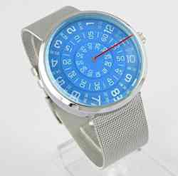 YouYouPifa Unisex Special Design Dial Stainless Steel Quartz Business Wrist Watch