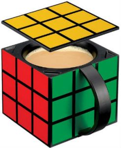 Estaly Rubiks Cube Coffee Mug Insulated with Removable Lid