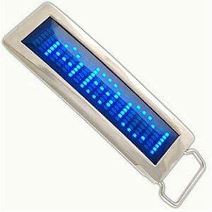 led-chrome-scrolling-belt-buckle