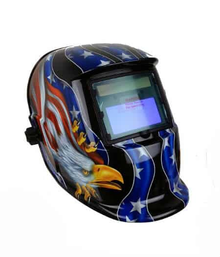 Patriotic Style Solar Powered Auto Darkening Welding Helmet
