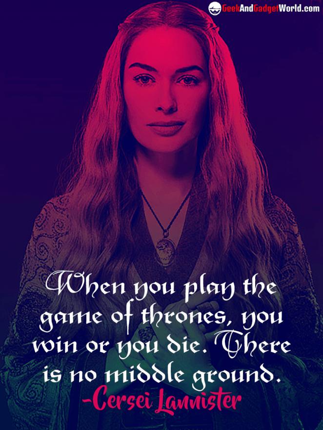 Cersei Lannister quote