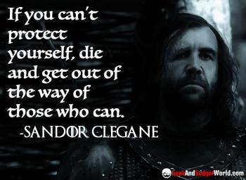 Sandor Clegane quote