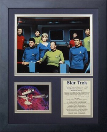 Legends Never Die Star Trek Bridge Crew Framed Photo Collage