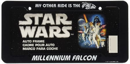Star Wars Millennium Falcon License Plate Frame