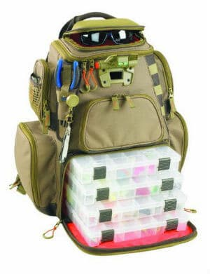 CLC Wild River Tackle Tek Nomad Lighted Backpack With Four Trays