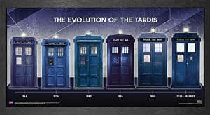 Doctor Who Evolution Of The TARDIS Framed Poster Print