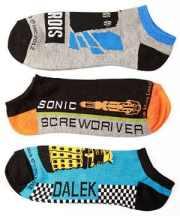 Doctor Who TARDIS Sonic Dalek Low Cut Socks