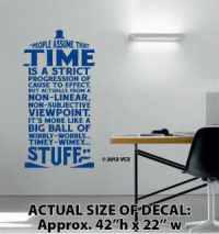 Time Is Wibbly Wobbly Timey Wimey Stuff Wall Décor Sticker Vinyl Decal