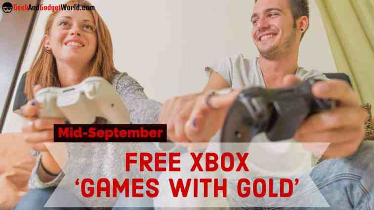 Mid September Free Xbox Games With Gold 2017