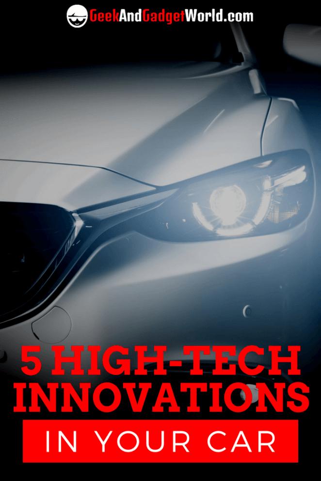 5 High Tech Car Innovations Pinterest