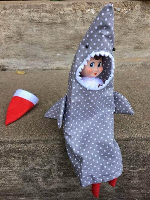 Shark Elf On The Shelf Costume