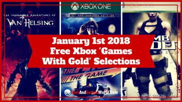 January 1 2018 Free Xbox Games With Gold