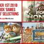 September 1st 2018 Free Xbox Games With Gold Selections