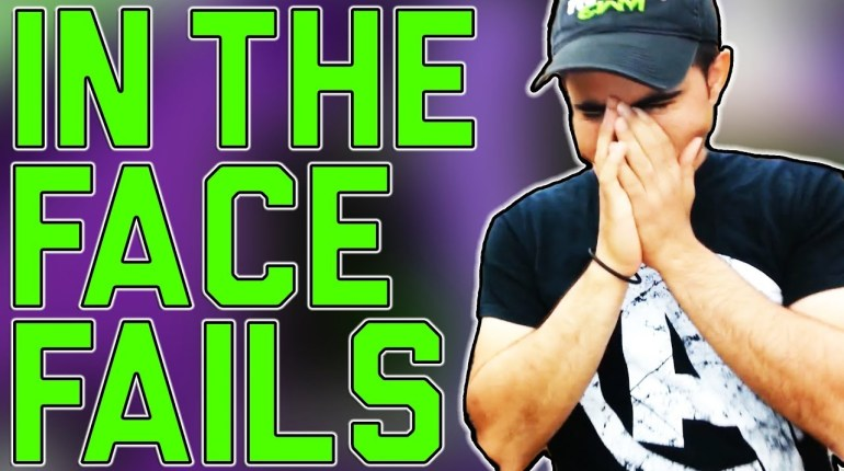 In the face fails