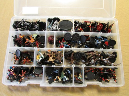 Tackle box of Star Wars Miniatures