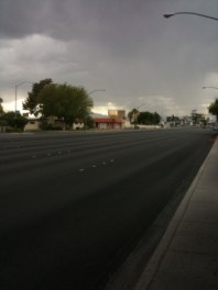 Storm clouds over Vegas