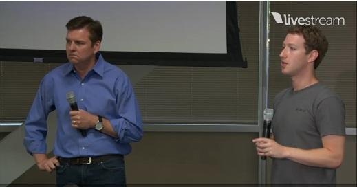 Mark Zuckerberg and Skype CEO TOny Bates