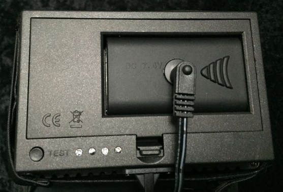 Back of CN-160 with plug-in adapter