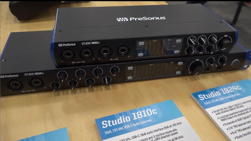 PreSonus Studio Series USB-C Interface Mixers for Recording