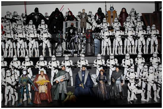 Une méga collection de figurines Star Wars