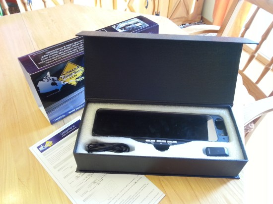 Rétroviseur Bluetooth VistaView dans sa boîte
