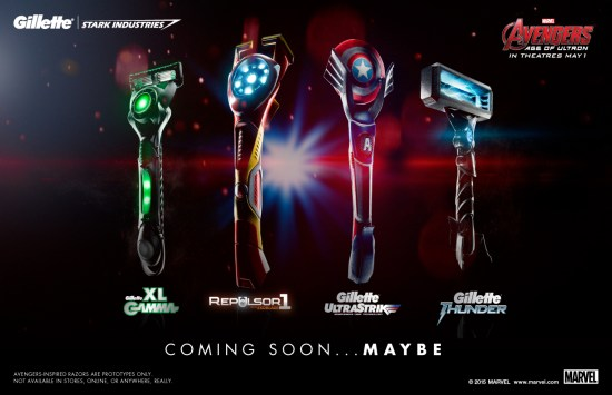 Gillette Avengers-inspired razors group