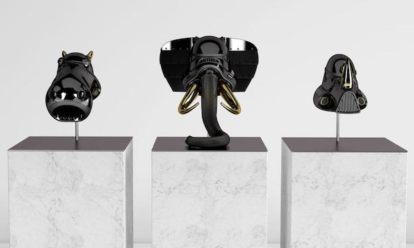 Casques de Stormtrooper d'animal noir!