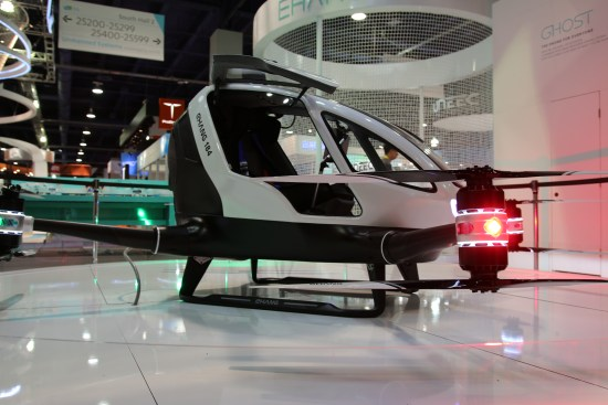 Drone-taxi pour une personne EHang 184