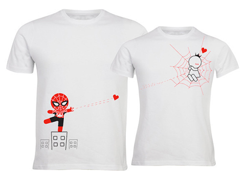 10 idées cadeaux pour les geeks amoureux - Spiderman t-shirt   via Boldloft