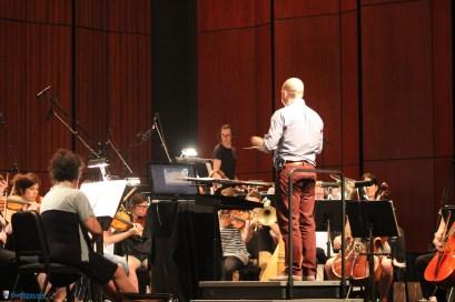 Le chef d'orchestre a démontré un très grand enthousiasme durant le concert, saluant fréquemment l'assistance et les invitant à applaudir les musiciens | The Legend of Zelda Symphony of the Goddesses