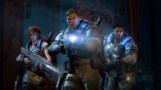 Le héros de Gears of War 4, JD, en compagnie de ses coéquipiers Del et Kait, est sur le point de faire une découverte morbide   Gears of War 4