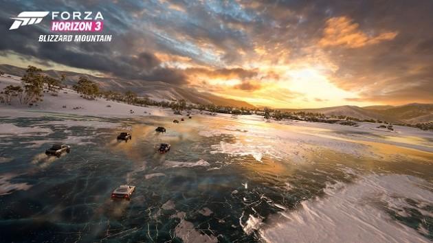 Souhaitez que vos pneus d'hiver vous aident alors que vous courserez sur un lac gelé!