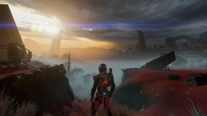 Contrairement aux animations faciales décevantes, les décors des différentes planètes du jeu sont époustouflants! | Mass Effect Andromeda