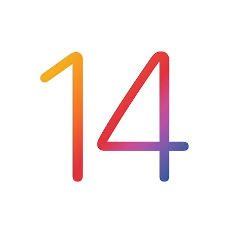 14 in gradient colors - ios 14 logo