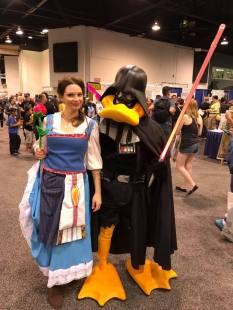 WonderCon 2017 Cosplay - Belle   Darth Duck Vader