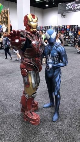 WonderCon 2017 Cosplay - Black Suit Spider-Man   Iron Man