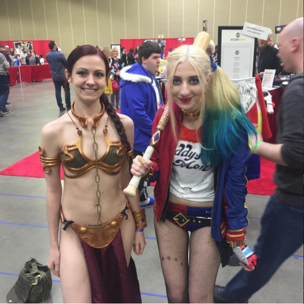 Wizard World Minneapolis 2017 Cosplay - Slave Leia | Harley Quinn