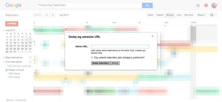 Geek Cat - Jak dodać wydarzenia z Facebooka do kalendarza Google - eksport do kalendarza - dodawanie kalendarza przez URL