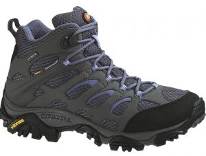 The Merrell hiking boots used to challenge the glacier